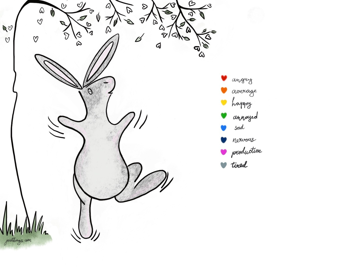 photograph regarding Printable Mood Tracker named Printable bunny temper tracker - joiethings