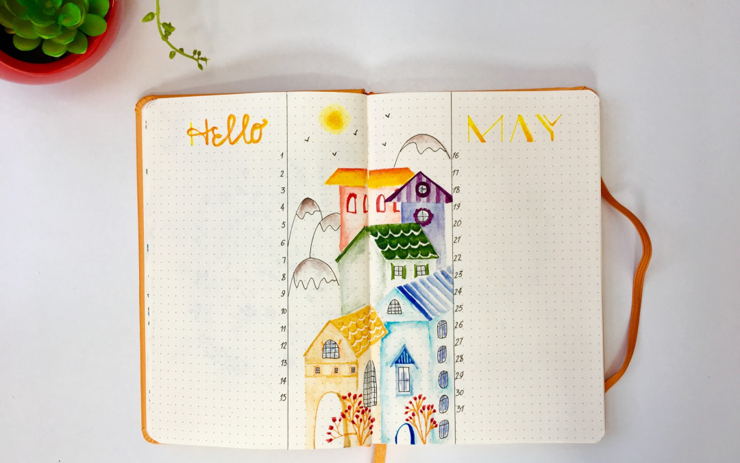 Make stunning bullet journal illustration with top 3 markers.