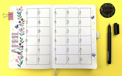 April: Monthly plan for your bullet journal