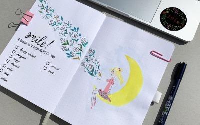 April mood tracker in steps