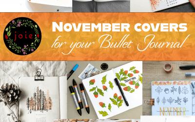 10 November covers for Bullet Journal
